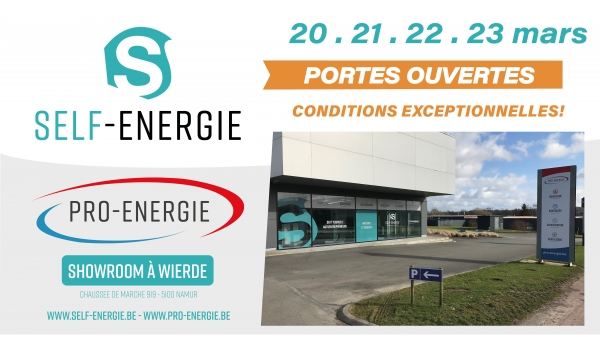 Week-End Portes Ouvertes Du 20 au 23/03 - Showroom Namur